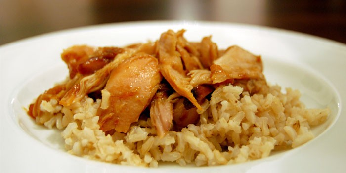 Apricot Chicken with Creamy Rice