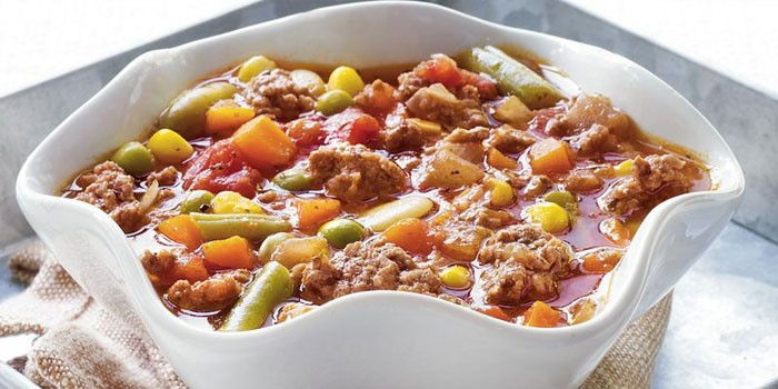Ground Beef Veggie Soup