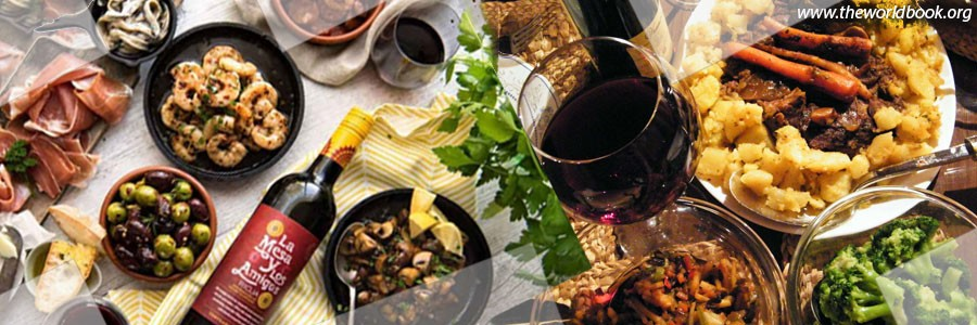 Dinner foods in Spain