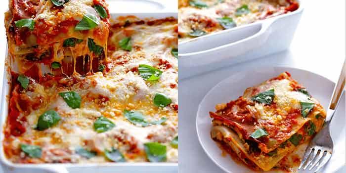 Easy veggie lasagna