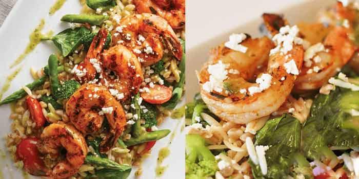 Shrimp, Spinach and Feta Orzo
